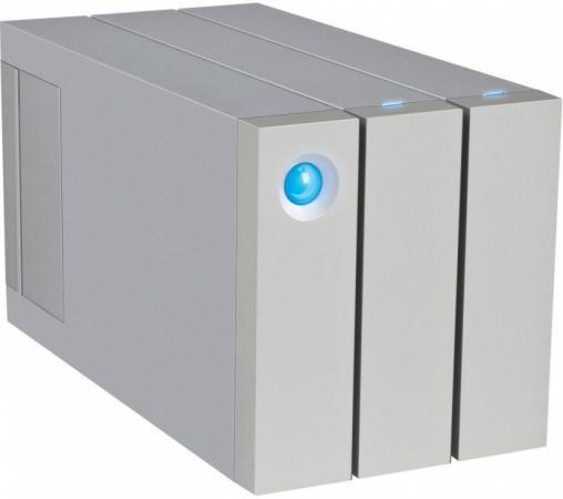 "Внешний жесткий диск 3.5"" USB3.0 16Tb Lacie 2big Thunderbolt2 STEY16000401 серебристый"