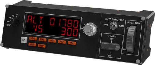 Джойстик Logitech G Saitek Pro Flight Multi Panel панель управления автопилотом для авиасимуляторов 945-000009 джойстик saitek saitek x52 pro flight system
