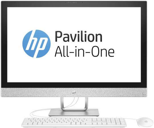 Моноблок 27 HP Pavilion -r014ur 2560 x 1440 Intel Core i7-7700T 8Gb  Tb AMD Radeon 530 2048 Мб Windows 10 Home белый 2MJ74EA