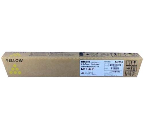 Картридж Ricoh MP C406 для Ricoh MP C306ZSPMP C306ZSPFMP C406ZSPF желтый 842098