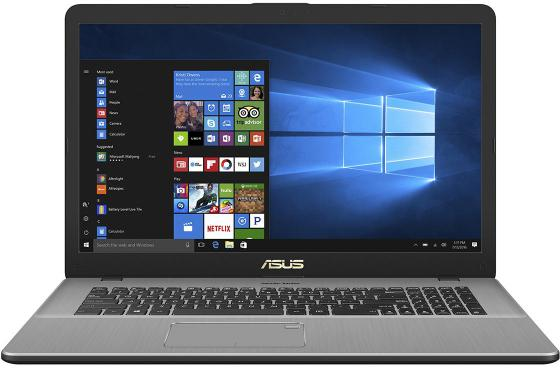 Ноутбук ASUS VivoBook Pro 17 N705UD-GC014T 17.3 1920x1080 Intel Core i5-7200U 1 Tb 8Gb nVidia GeForce GTX 1050 2048 Мб серый Windows 10 Home 90NB0GA1-M01030 ноутбук asus k501uq dm036t 15 6 1920x1080 intel core i5 6200u 1 tb 8gb nvidia geforce gtx 940mx 2048 мб серый windows 10 home 90nb0bp2 m00470