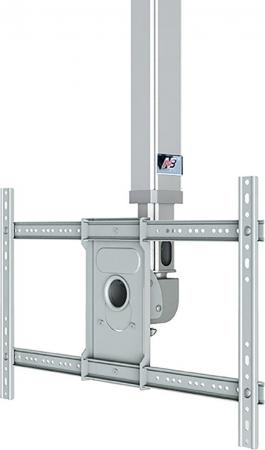 Кронштейн North Bayou T3260 для ЖК ТВ 32-60 потолочный высота 900-1500мм наклон -20°/+2° поворот 360° VESA 400x600 до 45.5 кг серебристый