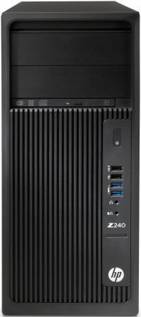 Системный блок HP Z240 1270v6 3.8GHz 16Gb 1Tb DVD-RW Win7Pro Win10Pro черный 1WV07EA системный блок hp z440 e5 1650v4 3 2ghz 16gb 512gb ssd dvd rw win7pro win10pro клавиатура мышь черный t4k81ea