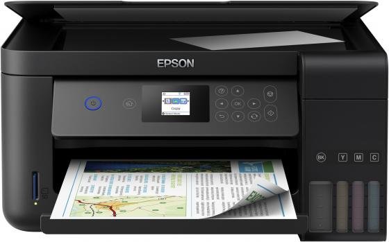 МФУ Фабрика печати EPSON L4160 цветное A4 33/15ppm 5760x1440dpi Wi-Fi C11CG23403 мфу фабрика печати epson m205 монохромный a4 34ppm 1440x720dpi usb c11cd07401