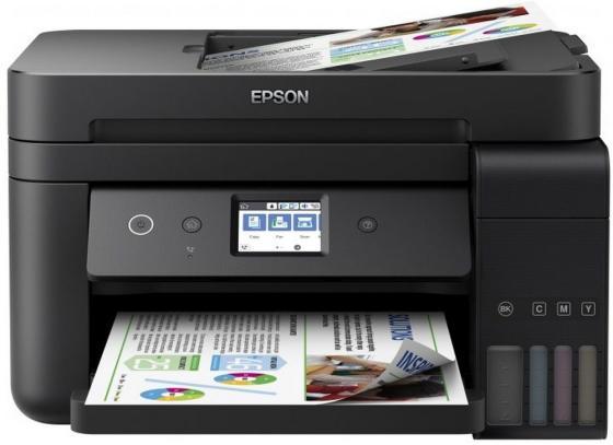 МФУ Фабрика печати EPSON L6190 цветное A4 33/20ppm 2400x1200dpi Ethernet Wi-Fi C11CG19404 мфу фабрика печати epson l3050 цветное a4 33 15ppm 2400x1200dpi usb wi fi c11cf46405