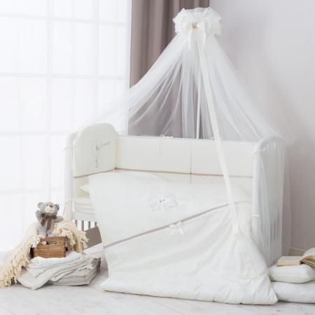 Сменное постельное белье 3 предмета Перина Le Petit Bebe (молочно-кофейный)