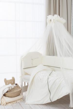 Сменное постельное белье 3 предмета Перина Le Petit Bebe (молочно-оливковый) цена