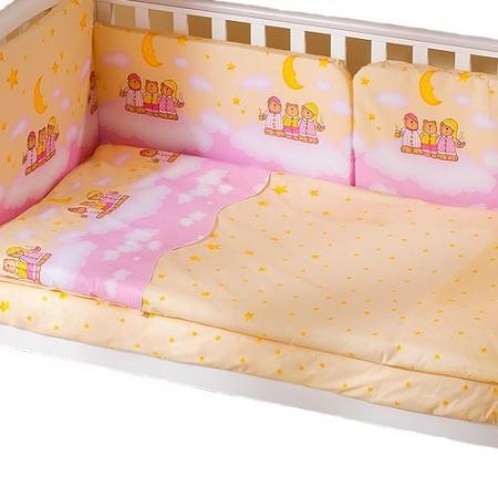 Сменное постельное белье 3 предмета Перина Аманда Ночка (розовая) сменное постельное белье 3 предмета перина le petit bebe молочно кофейный