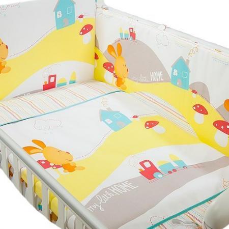 Сменное постельное белье 3 предмета Перина Кроха Веселый кролик (белый) сменное постельное белье 3 предмета перина le petit bebe молочно кофейный