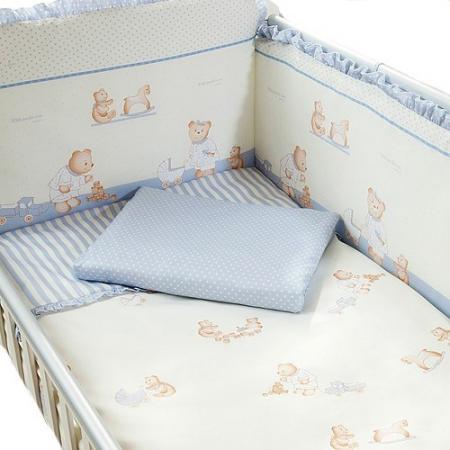 Сменное постельное белье 3 предмета Перина Тиффани Неженка (голубая) сменное постельное белье 3 предмета перина le petit bebe молочно кофейный