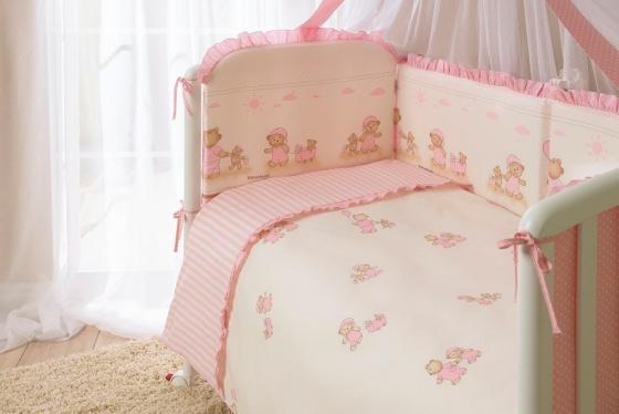 Сменное постельное белье 3 предмета Перина Тиффани Неженка (розовая) сменное постельное белье 3 предмета перина le petit bebe молочно кофейный