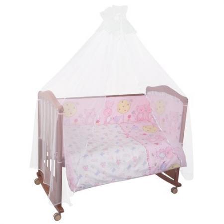 Сменное постельное белье 3 предмета Сонный гномик Акварель (розовый)