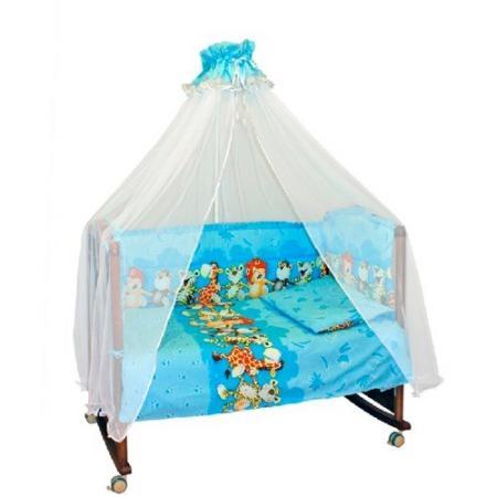 Сменное постельное белье 3 предмета Сонный гномик Африка (голубой) сонный гномик постельное белье считалочка 7 пред сонный гномик бежевый