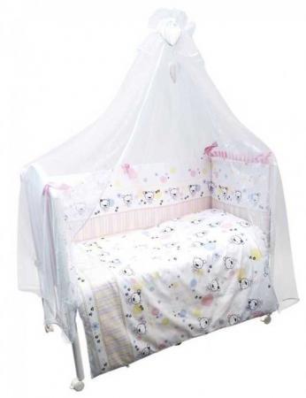Постельный сет 7 предметов Сонный гномик Конфетти (розовый) борт в кроватку сонный гномик считалочка бежевый бсс 0358105 4