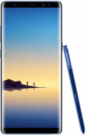 Смартфон Samsung Galaxy Note 8 синий сапфир 6.3 64 Гб NFC LTE Wi-Fi GPS 3G SM-N950FZBDSER смартфон samsung galaxy s7 edge синий 5 5 32 гб nfc lte wi fi gps 3g sm g935fzbuser