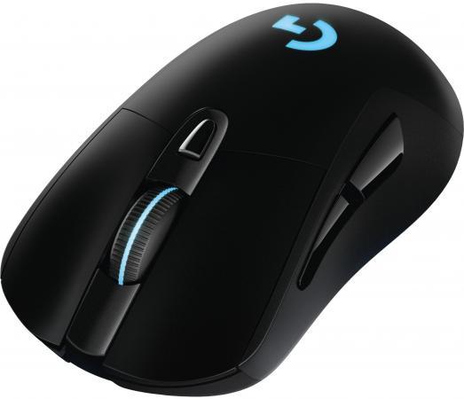 все цены на Мышь беспроводная Logitech G703 Wireless Gaming чёрный USB + радиоканал 910-005093 онлайн