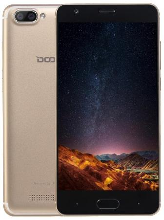 Смартфон Doogee X20L золотистый 5 16 Гб LTE Wi-Fi GPS 3G 4G смартфон alcatel 3 5052d синий 5 5 16 гб lte wi fi gps 3g 5052d 2balru7