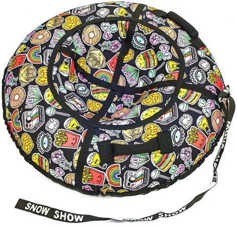 Тюбинг RT Фаст-Фуд до 120 кг ПВХ полипропилен рисунок диаметр 105 см тюбинг rt 7 monsters до 120 кг разноцветный пвх