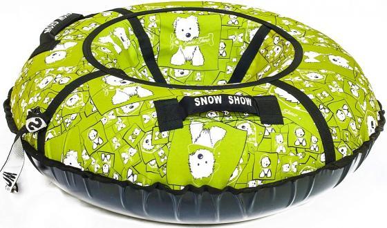 Тюбинг RT Собачки на салатовом до 120 кг ПВХ полипропилен рисунок диаметр 87 см тюбинг rt rt тюбинг собачки на салатовом диаметр 87 см