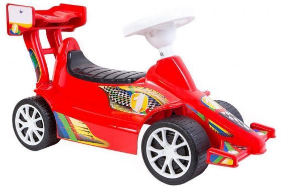 Каталка-машинка RT Гоночный Спорткар Super Sport 1 ОР894к пластик от 10 месяцев на колесах красный
