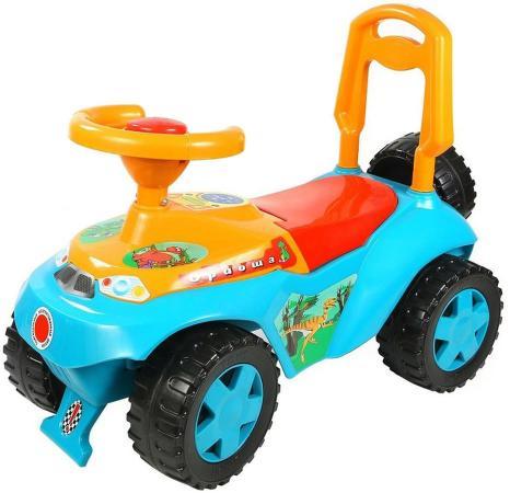 Каталка-машинка R-Toys Ориоша 6695 пластик от 10 месяцев со звуком голубой каталка на палочке s s toys вертолет желтый от 1 года пластик