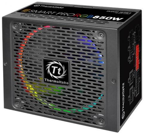 Блок питания ATX 850 Вт Thermaltake PS-SPR-0850FPCBEU-R блок питания accord atx 1000w gold acc 1000w 80g 80 gold 24 8 4 4pin apfc 140mm fan 7xsata rtl