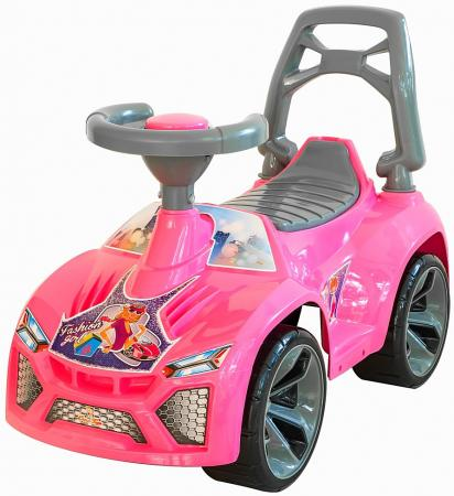 Каталка-машинка RT Ламбо 6687 пластик от 10 месяцев с клаксоном розовый