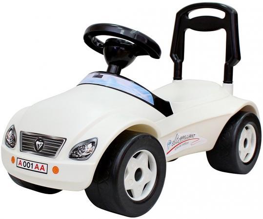 Каталка-машинка Rich Toys Мерсик пластик от 8 месяцев с клаксоном белый каталка машинка rich toys джипик police пластик от 8 месяцев с клаксоном красный ор105