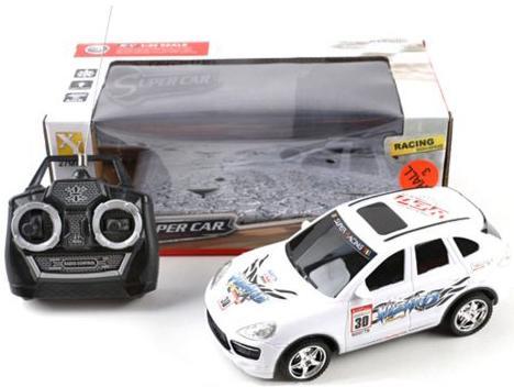 Купить со скидкой Машинка на радиоуправлении Shantou Gepai Super Car, 4 канала белый от 3 лет пластик 66-W8