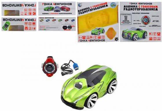 Машинка на радиоуправлении Shantou Gepai Гонка чемпионов - Sport Car зелёный от 6 лет пластик, металл свет, звук, голосовое управление R-201 военный автомобиль на радиоуправлении tongde в72398 пластик от 3 лет зелёный