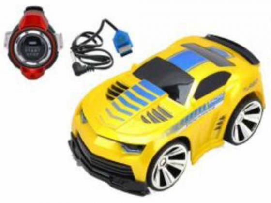 Машинка на радиоуправлении Shantou Gepai Гонка чемпионов желтый от 6 лет пластик свет, звук, голосовое управление