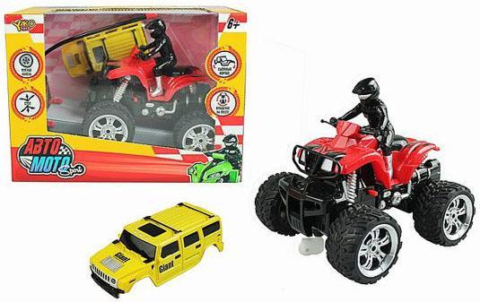 цена на Квадроцикл на радиоуправлении Shantou Gepai Авто Мото красный от 6 лет пластик M7114-2