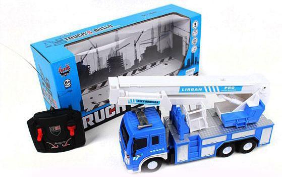Фото - Машинка на радиоуправлении Shantou Gepai Автовышка синий от 6 лет пластик, металл авто