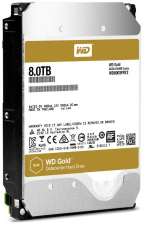 "все цены на Жесткий диск 3.5"" 8 Tb 7200rpm 256Mb cache Western Digital Gold SATAIII WD8003FRYZ"