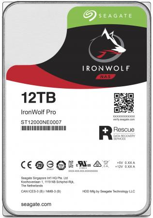 Жесткий диск 3.5 12 Tb 7200rpm 256Mb cache Seagate Ironwolf Pro SATAIII ST12000NE0007 400 gb 7200rpm 8mb cache seagate 7200 8 st3400832as ncq