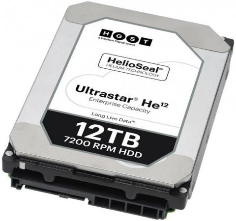 "лучшая цена Жесткий диск 3.5"" 12Tb 7200rpm HGST Ultrastar HE12 SATAIII HUH721212ALE604 0F30146"