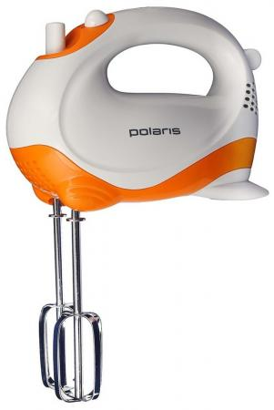 Миксер ручной Polaris PHM 2010 150 Вт белый оранжевый миксер ручной philips hr1560 20 400 вт черный