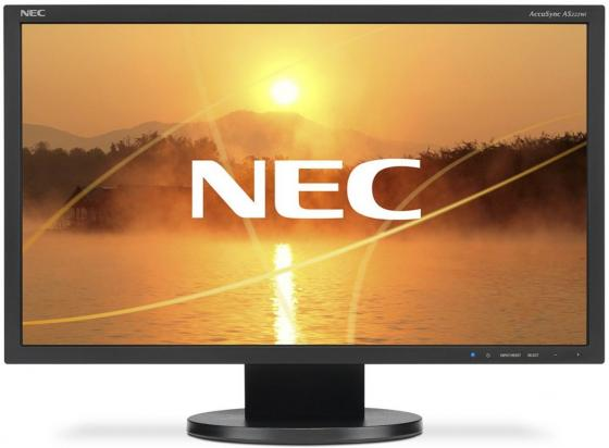 Монитор 22 NEC AS222Wi-BK черный AH-IPS 1920x1080 200 cd/m^2 5 ms DVI VGA Аудио монитор nec ea193mi bk