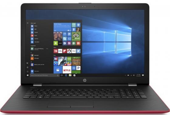 "Ноутбук HP 17-bs022ur 17.3"" 1600x900 Intel Pentium-N3710 1 Tb 4Gb AMD Radeon 520 2048 Мб красный Windows 10 Home 2CP75EA цена 2017"