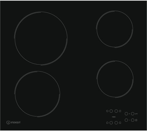 Варочная панель электрическая Indesit RI 161 C черный free delivery ac230v 8 cm high quality axial flow fan cooling fan 8038 3 c 230 hb