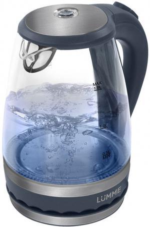 Чайник Lumme LU-220 2200 Вт серый жемчуг 1.8 л пластик/стекло lumme lu 2507 grey