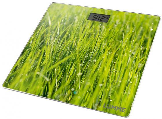 Весы напольные Lumme LU-1329 рисунок молодая трава