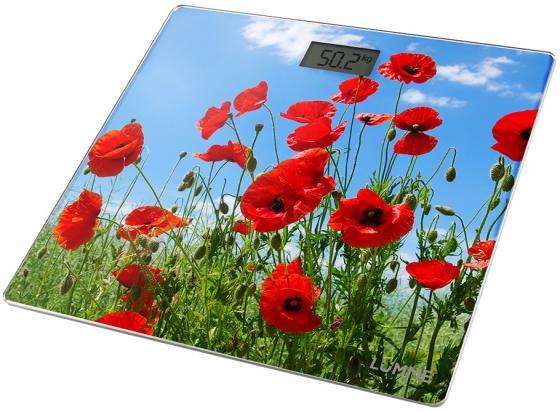 Весы напольные Lumme Красные маки рисунок LU-1328 бомбер printio красные маки
