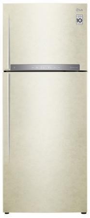Холодильник LG GC-H502HEHZ бежевый холодильник lg gc b247jeuv бежевый двухкамерный