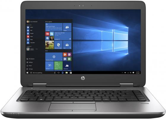 "Ноутбук HP ProBook 645 G3 14"" 1920x1080 AMD A10 Pro-8730B 128 Gb 4Gb Radeon R5 черный серебристый Windows 10 Professional компьютер acer veriton vx4110g amd a6 pro 7400b 4gb 1tb radeon r5 windows 10 professional черный dt vmaer 037"