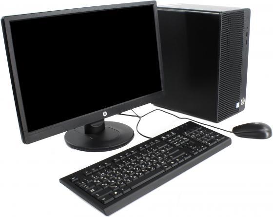 Системный блок HP 290 G1 MT G4560 3.5GHz 4Gb 500Gb DVD-RW Win10Pro черный + монитор V214 2MT17ES системный блок lenovo s200 mt j3710 4gb 500gb dvd rw dos клавиатура мышь черный 10hq001fru