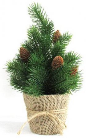 Ель Новогодняя сказка Декоративная елочка 30.5 см с шишками ель новогодняя с украшением h 75см упаковочный пакет