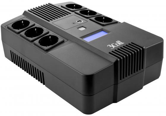 ИБП 3Cott 650-CDL 650VA/390W источник бесперебойного питания 3cott home line 650va 390w 3cott 650 hml