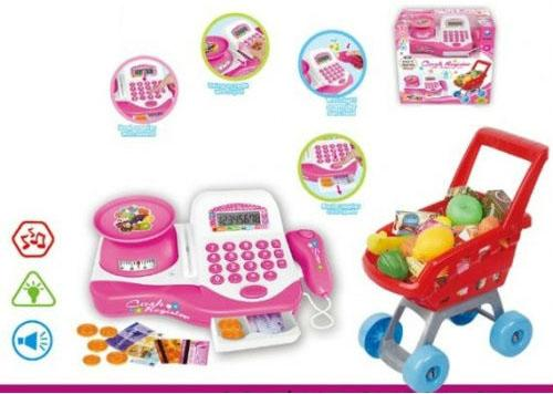 купить Игровой набор Shantou Gepai Супермаркет Радочка (свет, звук) 29 предметов 66053