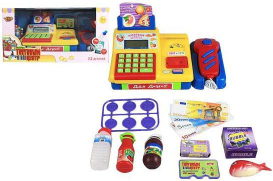 Игровой набор Shantou Gepai Торговый центр - Кассовый аппарат (свет, звук) 10 предметов M6880 цена